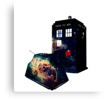 The Tardis and K9 Canvas Print