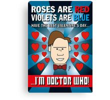 DOCTOR WHO VALENTINE CARD 1 Canvas Print