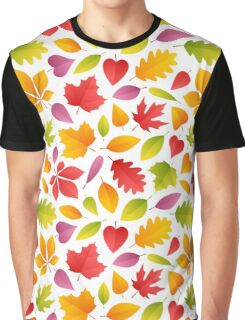 Autumn Leaves Seamless Pattern Graphic T-Shirt