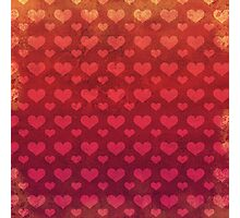 Love Red Pattern Photographic Print