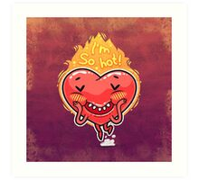 Cute Burning Heart for Valentine's Day Art Print