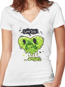 Love Sick Women's Fitted V-Neck T-Shirt
