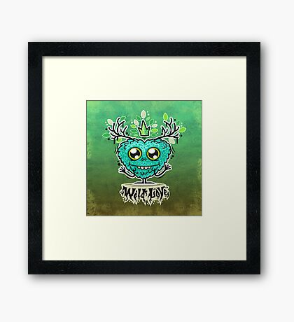 Cute Wild Love Monster Framed Print