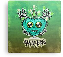 Cute Wild Love Monster Metal Print