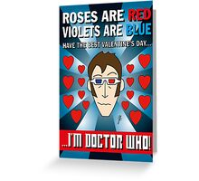 DR WHO VALENTINES 6 Greeting Card