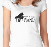 Piano Women's Fitted Scoop T-Shirt