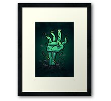 Cartoon Zombie Hand Framed Print