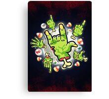 Cartoon Zombie Hands Canvas Print