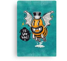 Cartoon Monster I'll Bee Bat Canvas Print