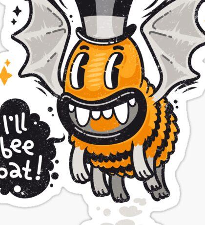 Cartoon Monster I'll Bee Bat Sticker