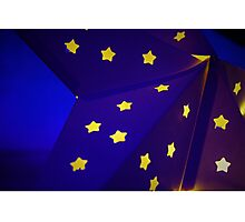 Blue Star with yellow stars Photographic Print