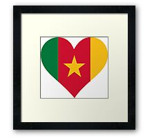 A heart for Cameroon Framed Print