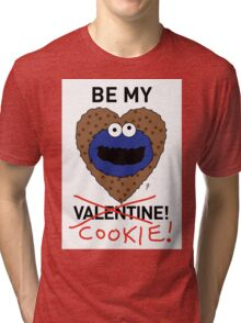 COOKIE MONSTER VALENTINE'S CARD 2 Tri-blend T-Shirt
