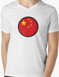 In a sign of China Mens V-Neck T-Shirt