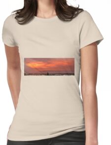 Flaming Sky Womens Fitted T-Shirt