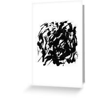 Byn abstract serie n°9 Greeting Card