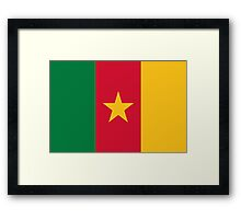 National Flag of Cameroon Framed Print
