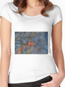 Wild Red Women's Fitted Scoop T-Shirt