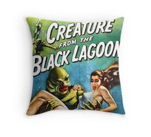 Creature of the Black Lagoon poster Throw Pillow