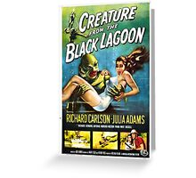 Creature of the Black Lagoon poster Greeting Card