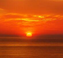 Sunset, Nature Sticker
