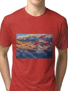 Red Arrows Above The Clouds Tri-blend T-Shirt