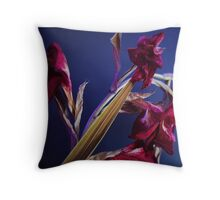 Dried Dead Red Gladioli Throw Pillow