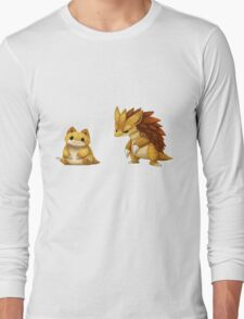 Pokemon Sandshrew Evolution Long Sleeve T-Shirt
