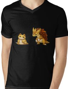 Pokemon Sandshrew Evolution Mens V-Neck T-Shirt