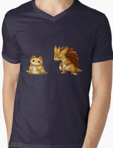 Pokemon Sandshrew Evolution Mens V-Neck T-Shirt