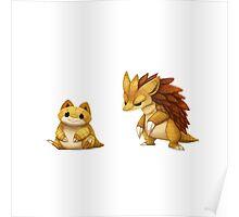 Pokemon Sandshrew Evolution Poster