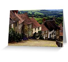 Gold Hill - Dorset Greeting Card