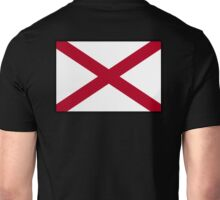 ALABAMA, Alabama Flag, Flag of Alabama, on BLACK, State flags, Southern states, America, USA, American, Americana Unisex T-Shirt