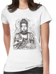 Conceptual Buddha Womens Fitted T-Shirt
