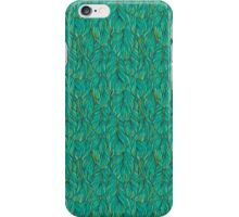 Green feathers iPhone Case/Skin
