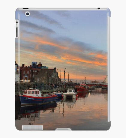 Whitby Harbour at Sunset iPad Case/Skin