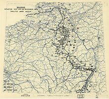 December 23 1944 World War II HQ Twelfth Army Group situation map Photographic Print