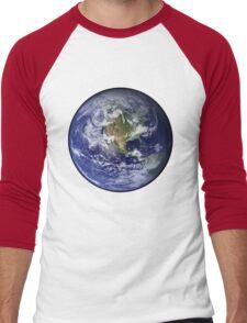 Blue Marble Men's Baseball ¾ T-Shirt