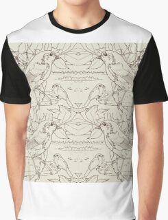 Robin Toile de Jouy Inspired Pale Lime Graphic T-Shirt
