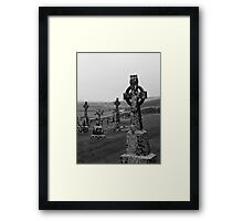 Cemetery at the Rock of Cashel Framed Print