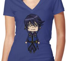 Reisi Munakata-K project chibi Women's Fitted V-Neck T-Shirt