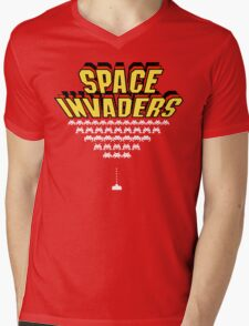 Space Invaders Mens V-Neck T-Shirt