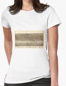 Birds eye view Map of Cleveland Ohio (1877) T-Shirt