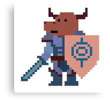 a minotaur mage hunter, with a giant heavy armour Canvas Print