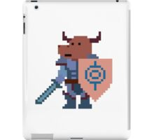 a minotaur mage hunter, with a giant heavy armour iPad Case/Skin