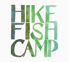 watercolor hike fish camp T-Shirt