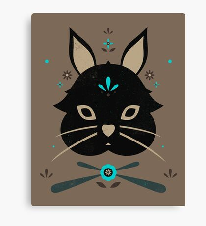 Black Bunny Canvas Print