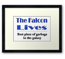 The Falcon Lives Framed Print