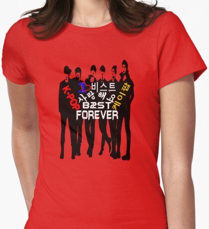 ♥♫I Love B2ST Forever Splendiferous K-Pop Clothes & Stickers♪♥ Womens Fitted T-Shirt