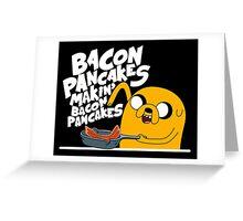 Jake Makin Bacon Pancake Greeting Card